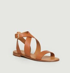 N°202 leather sandals