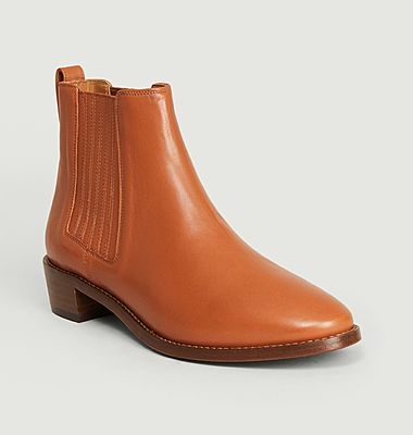 N°69 python effect leather Chelsea boots