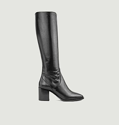 N°661 leather high boots