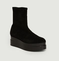Bottines Cuir Suede Stretch