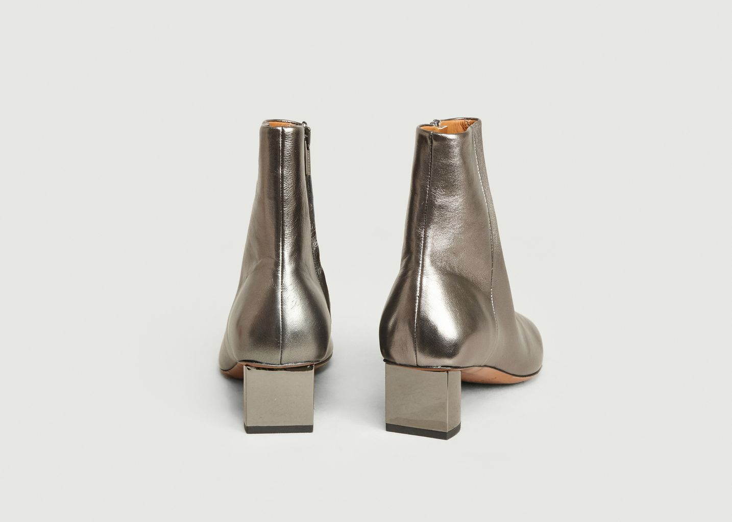 Bottines en cuir métallisé Paige - Clergerie
