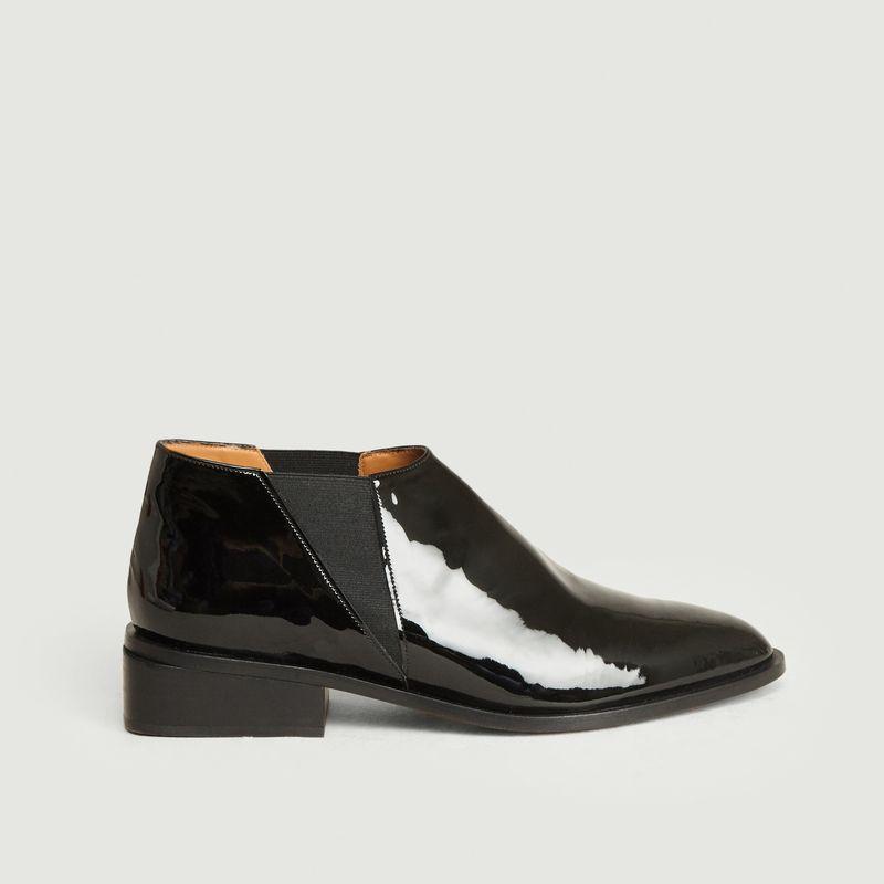Boots basses en cuir verni Xever - Clergerie