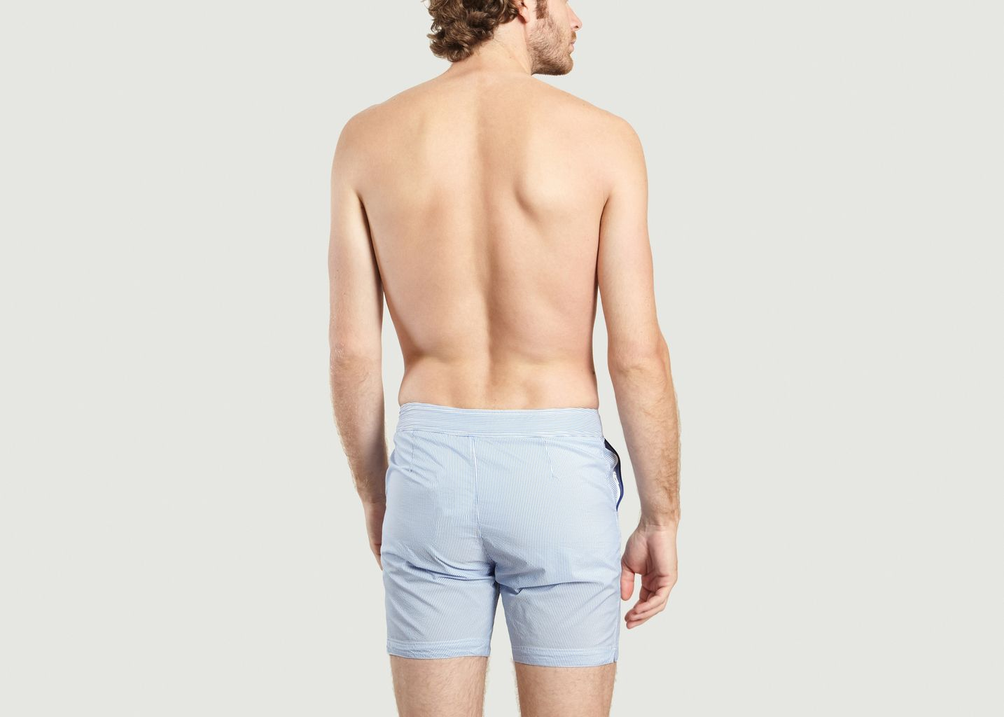 fb6d942070 Oxford Long Swimming Shorts Light Blue Robinson Les Bains | L'Exception