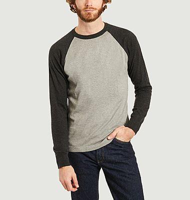 Baseball sweatshirt en coton cachemire