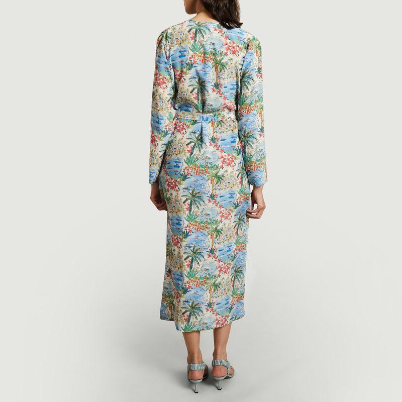 Robe en soie imprimé paysage Mercy - Roseanna