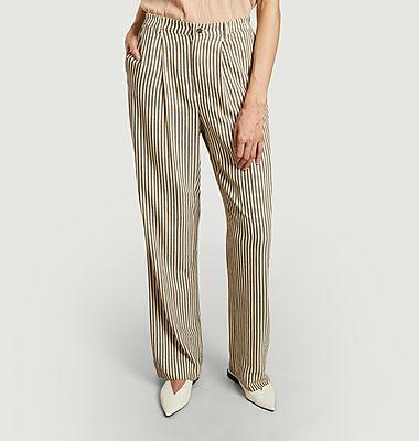 Pantalon rayé évasé Melijade