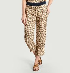 Kors Loose-fit Trousers in Blended Silk