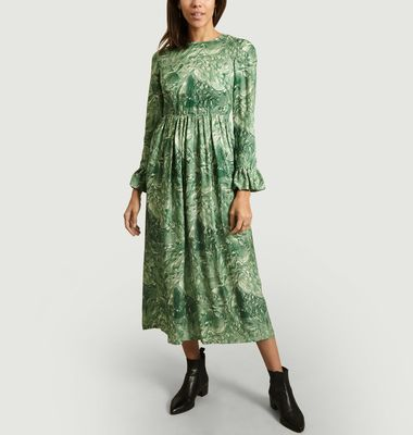 Uma Fancy Print Long Dress