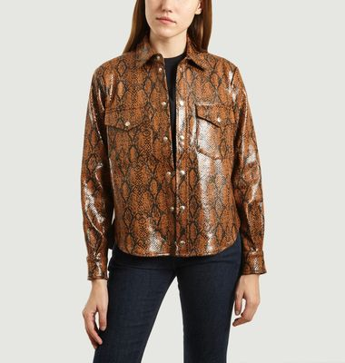 Vegan Leather Wilson Shirt