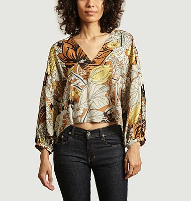 Single top with flower print