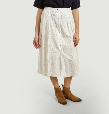 Mendes Long Embroidered Skirt