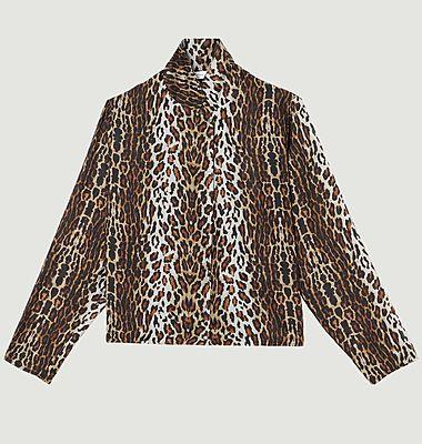 Blouse en soie imprimé léopard Tily Gabriella
