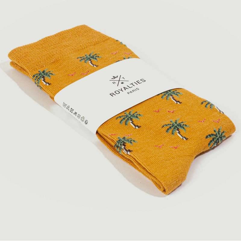Chaussettes à motif Palmiers - Royalties