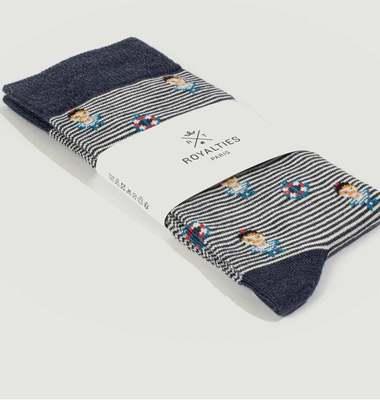 Chaussettes rayées Sailor