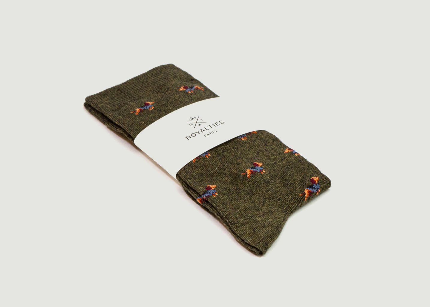 Chaussettes motif chiens Sherlock - Royalties