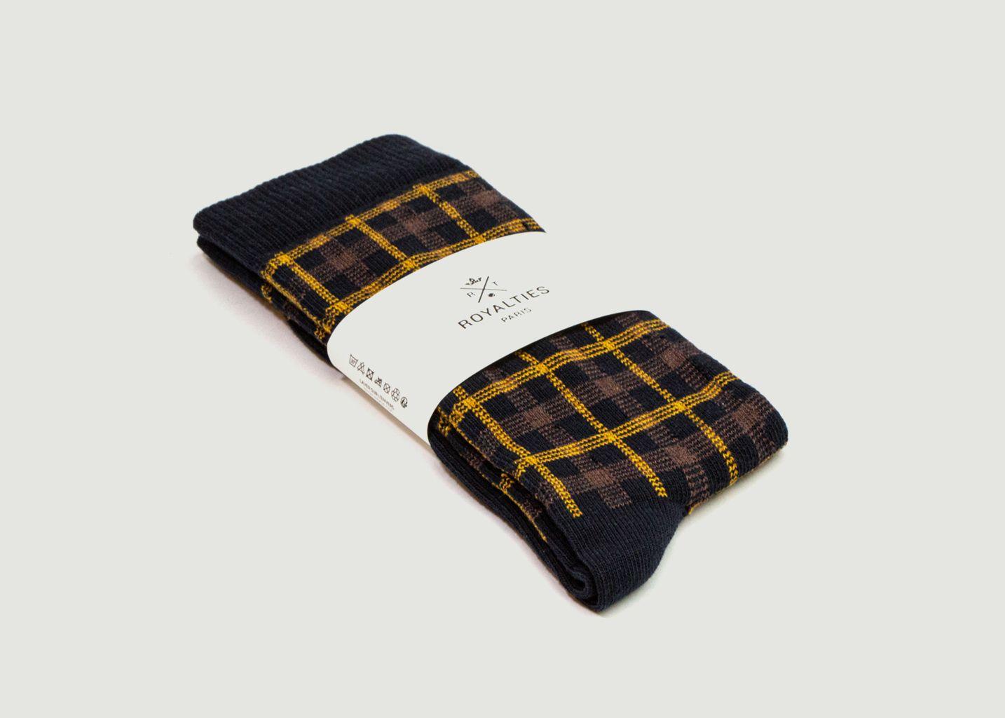 Chaussettes à carreaux Victor - Royalties