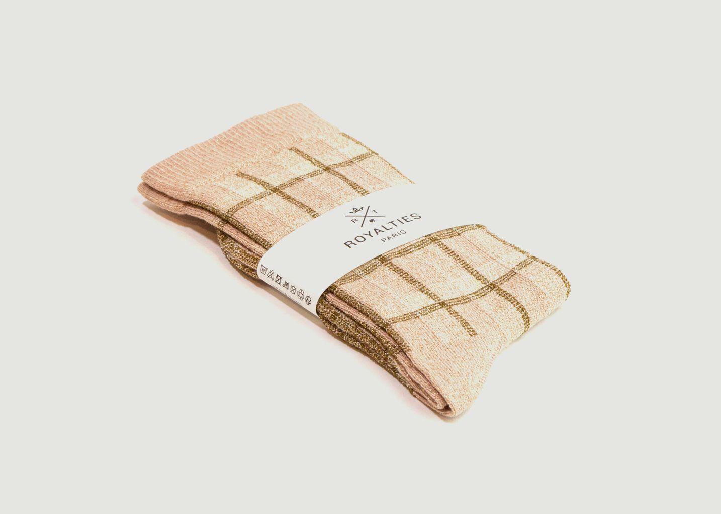 Chaussettes à carreaux Kim - Royalties