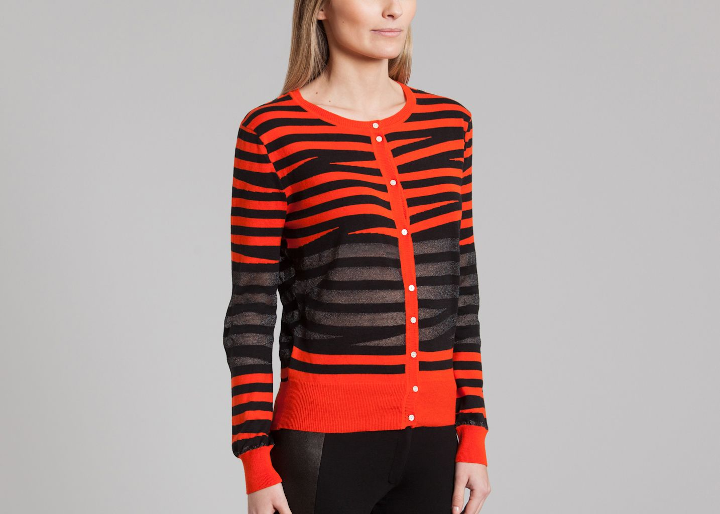 Line Cardigan Surface To Air Red L Exception