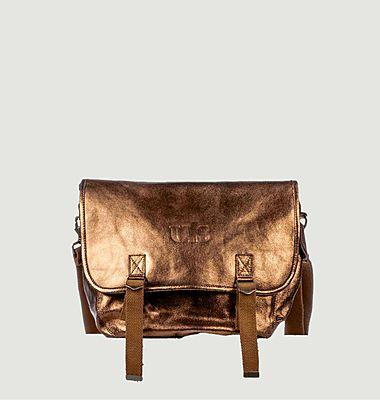 Grand sac cuir métallisé