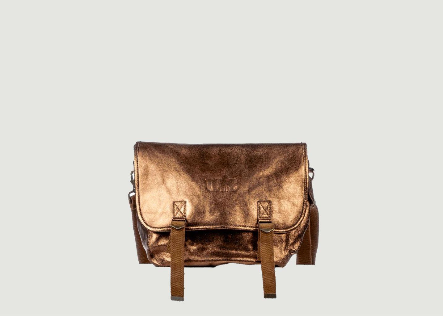 Grand sac cuir métallisé - SAC US