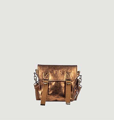 Petit sac cuir métallisé
