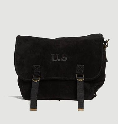 Suede leather large bag