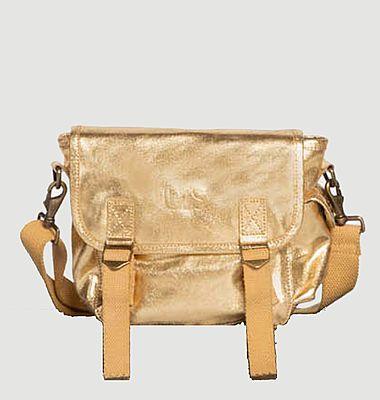 Petit sac en cuir métallisé
