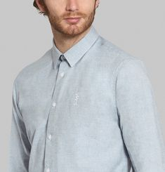 Melton Blue Shirt