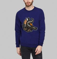 Sweat Blue Croco