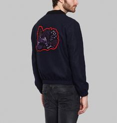 Blue Lion Embroidered Jacket