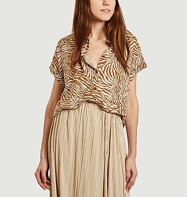 Majan zebra print short sleeves shirt