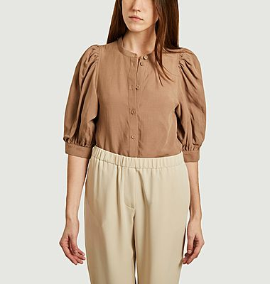 Mejse tencel and linen 3/4 sleeves shirt