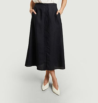 Mejse butonned midi high waist skirt
