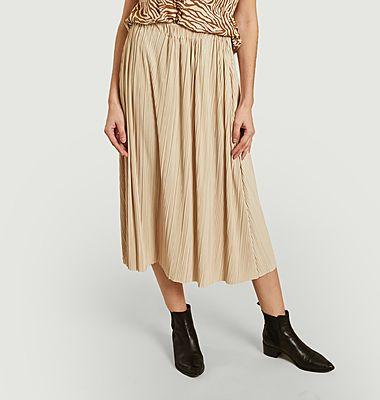 Uma pleated midi skirt