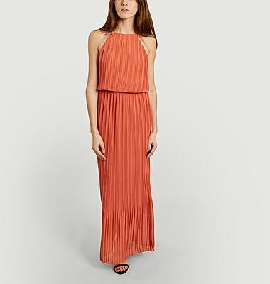 Myllow long pleated sleeveless dress