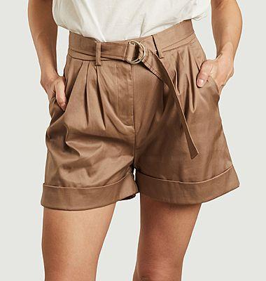 Dakota organic cotton flared shorts