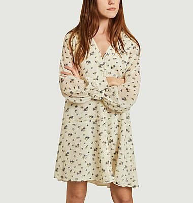 Robe-chemise courte imprimé fleuri Jetta