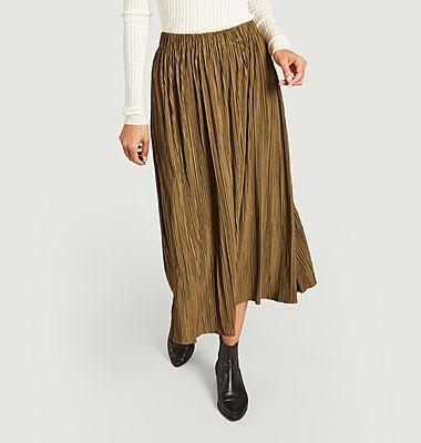 Uma mid-length pleated skirt