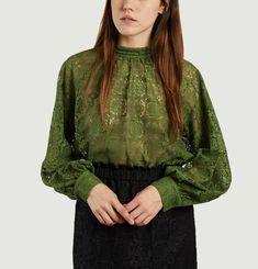 Fan lace blouse