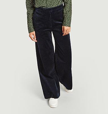 Pantalon large en velours côtelé Collot