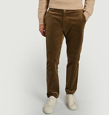 Pantalon slim fit en velours Andy X
