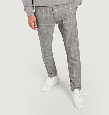 Pantalon formel motif Prince-de-Galles Frankie