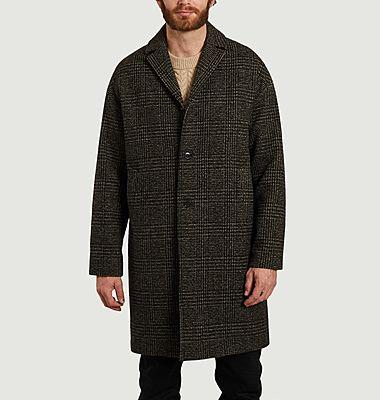 Manteau droit motif Prince-de-Galles Memet
