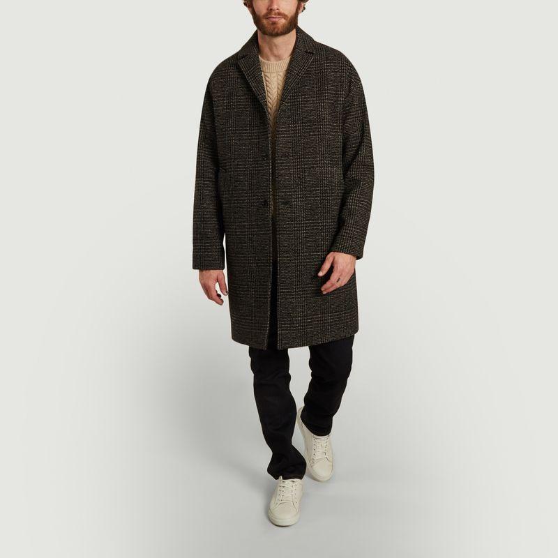Manteau droit motif Prince-de-Galles Memet - Samsoe Samsoe