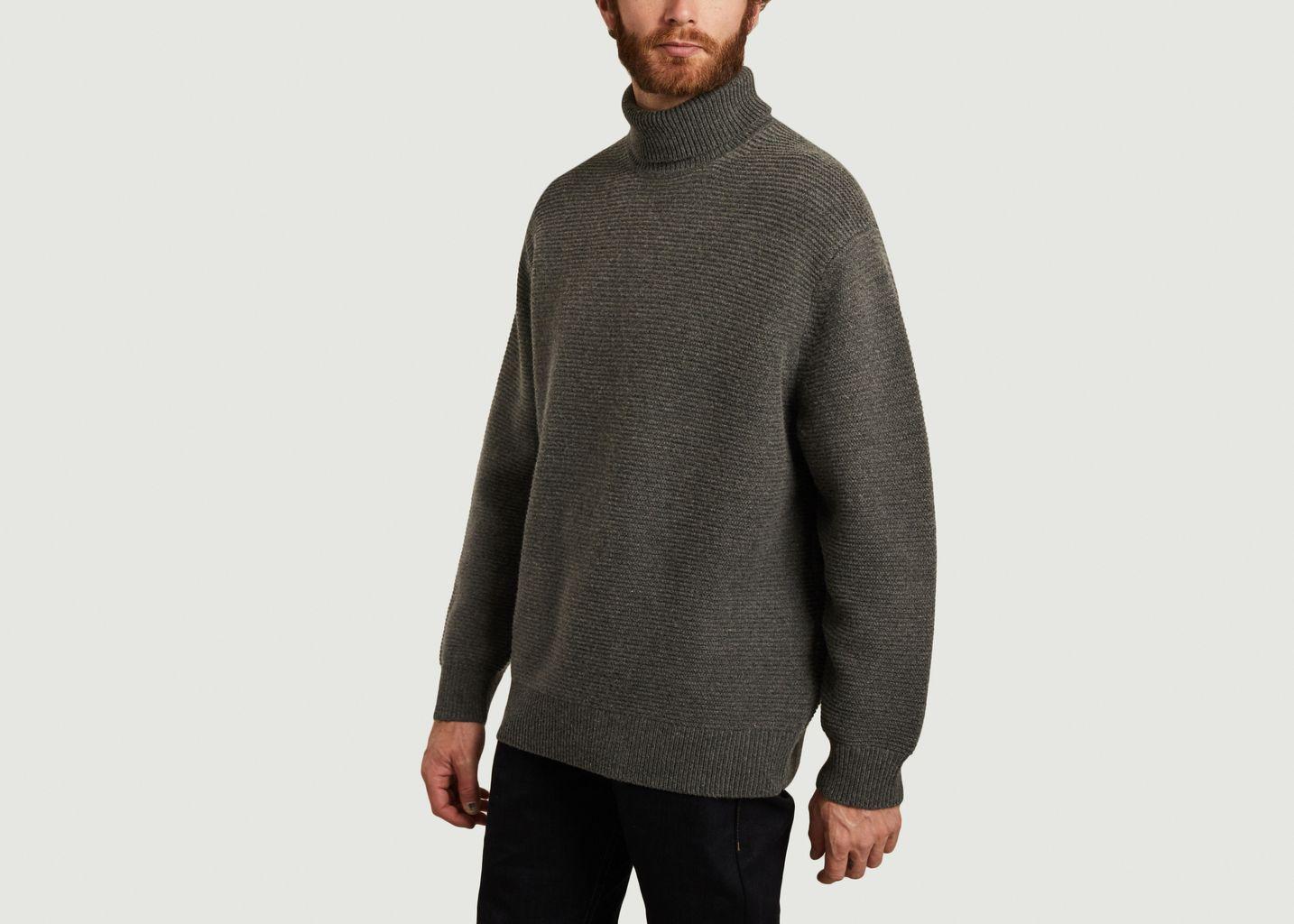 Pull col roulé coupe relax en laine et coton Colton - Samsoe Samsoe