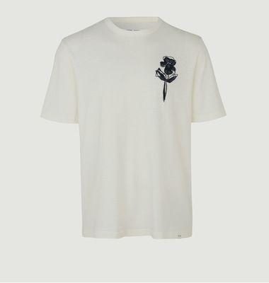 T-Shirt Avec Fleur Brodée En Coton Bio Tasso