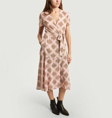 Klea Long Wrap Dress
