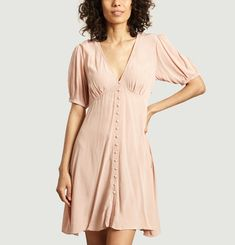 Petunia short dress with buttons