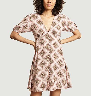 Robe courte Petunia imprimée