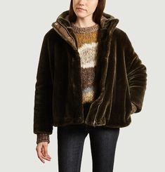 Sabal faux-fur short coat